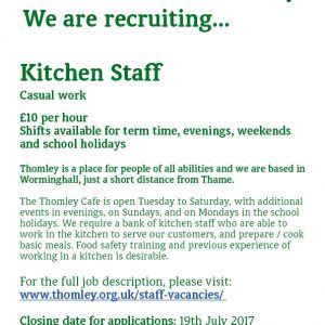 Kitchen Staff Required