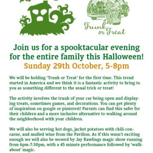 Trunk Or Treat, This Halloween At Thomley…