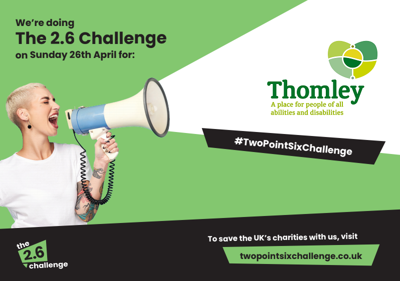 take the 2.6 challenge for Thomley