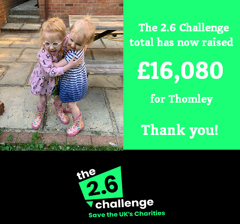 2.6 Challenge Fundraising Total Is Now Over £16,000!
