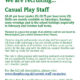 We Are Recruiting For Casual Play Staff…