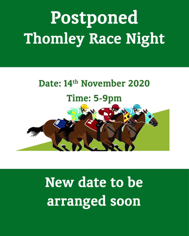 Fundraising Race Night Postponed…