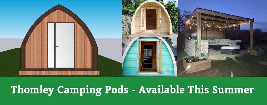 NEW Camping Pods At Thomley…