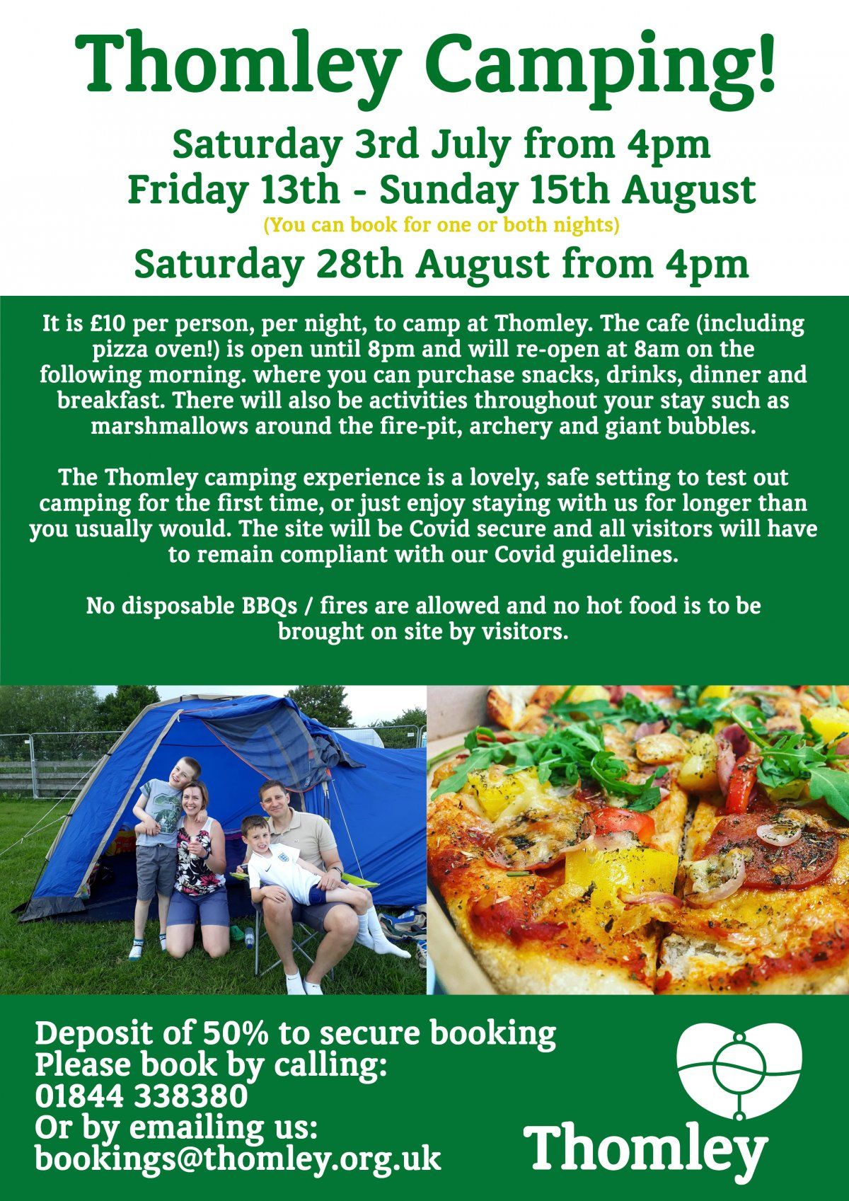 Summer Camping Dates Announced…