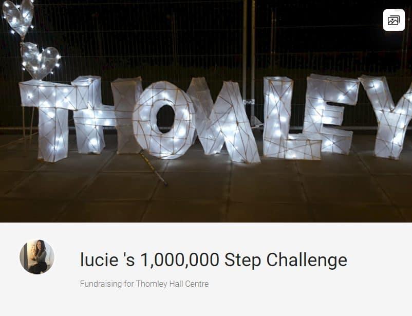 1,000,000 Steps Raising Money For Thomley…