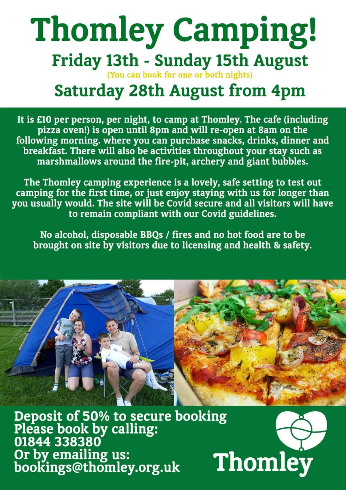 Summer Camping At Thomley…